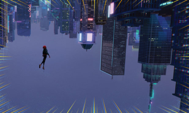 Morales falls through an alternate NYC universe.