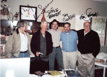 Creative team Joe Ruby, Ken Spears, Spike Brandt, Tony Cervone and Eric Semones worked together on several DTV Scooby-Doo films