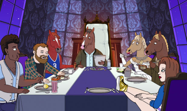 """Image from the Bojack Horseman Emmy®-nominated episode """"The View From Halfway Down"""". (Courtesy of Netflix)"""
