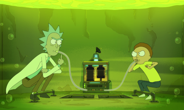 "Image from the Rick and Morty Emmy®-nominated episode ""Vat of Acid"". (Courtesy of Adult Swim)"