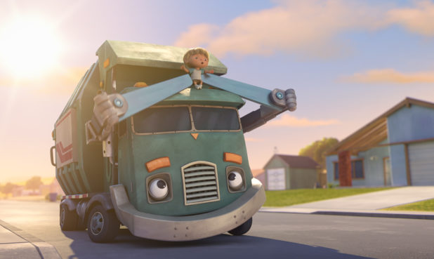 "Glen Keane as ""Trash Truck Grandpa"", Henri Keane as ""Hank"" in Episode 1 of ""Trash Truck""  NETFLIX © 2020"