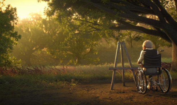 A still from Frank E. Abney III's short film Canvas.