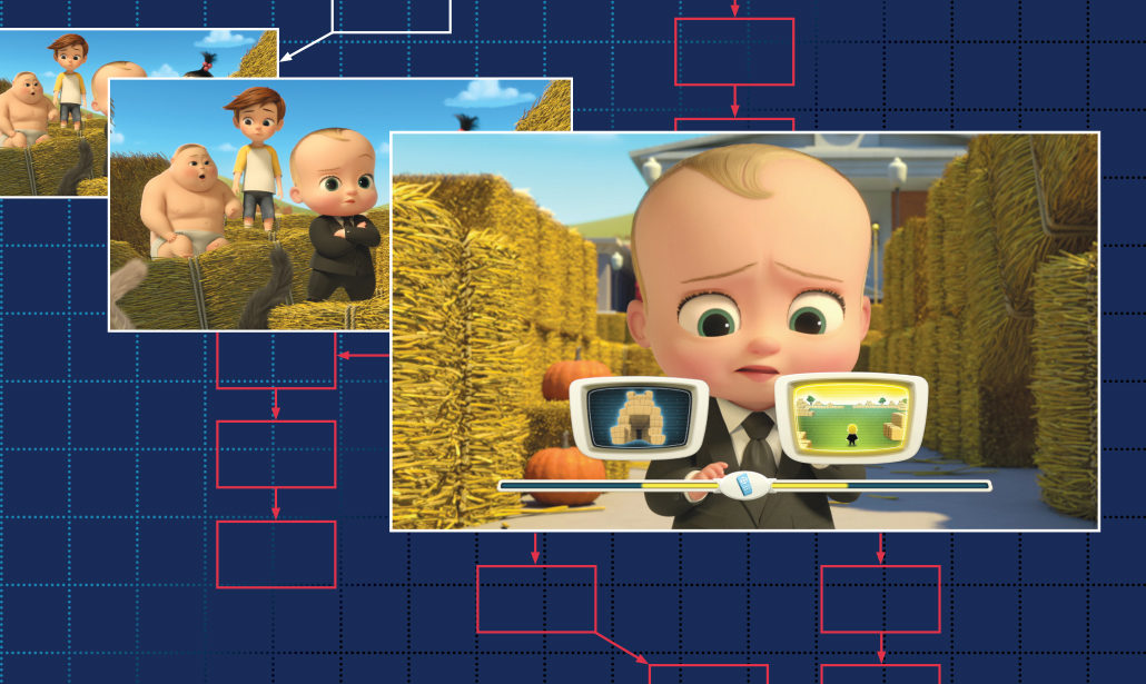 The Boss Baby interactive episode offered 16 different outcomes. The Boss Baby: Get That Baby! images courtesy of Netflix, Inc.