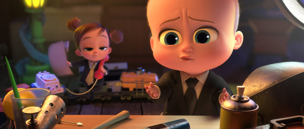 Boss Baby in suit and tie