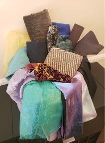 Basket of fabric