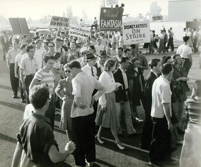 Women and men striking