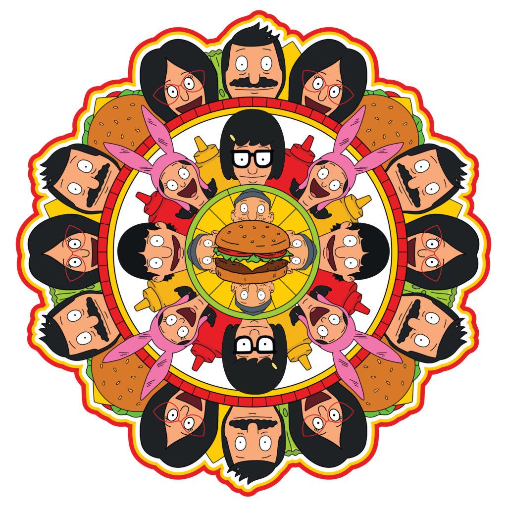 Bob's Burgers mandala fan art