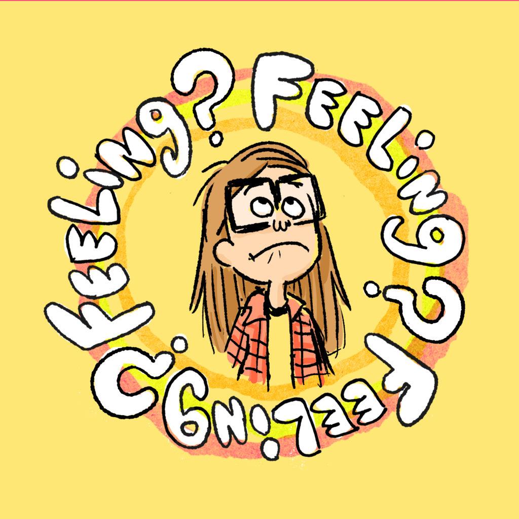 Cartoon girl with feelings