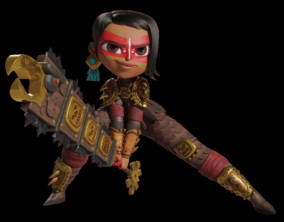 Cartoon girl warrior