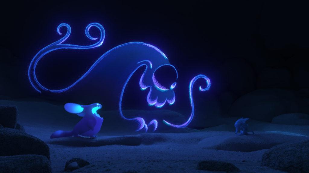 Purple cartoon creatures