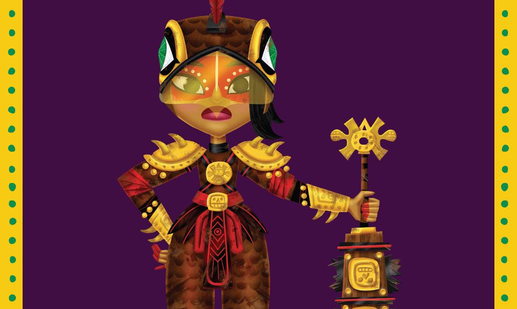 Cartoon female warrior