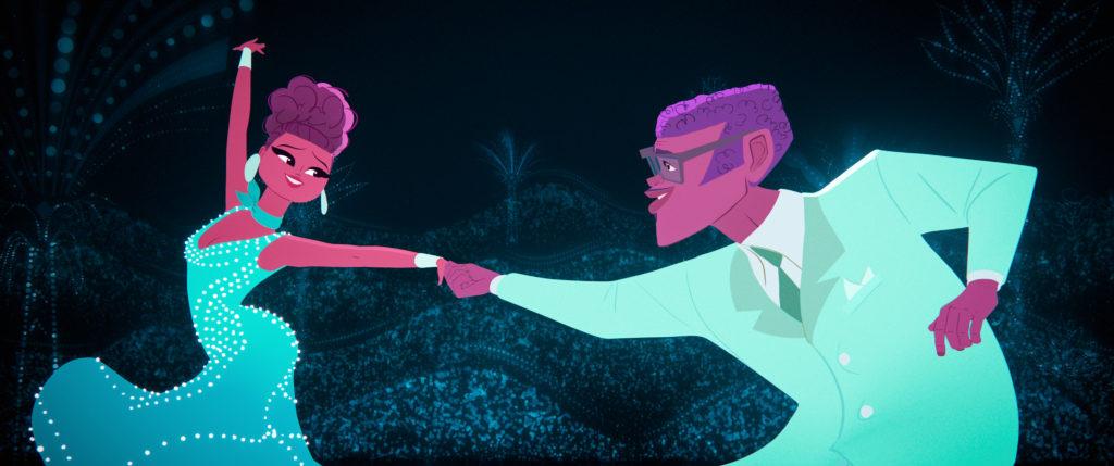 Animated man woman dancing